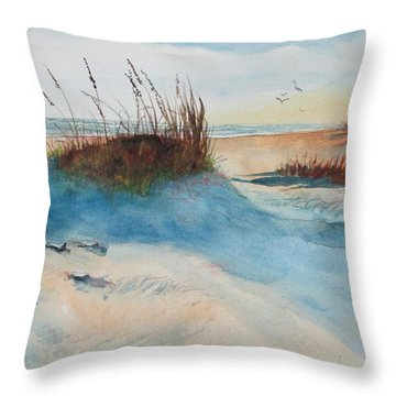 Mississippi Sea Oats Throw Pillow