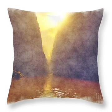 Missoula Trench Throw Pillow