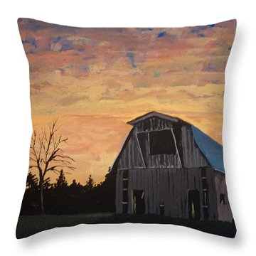 Missouri Barn Throw Pillow by Norm Starks