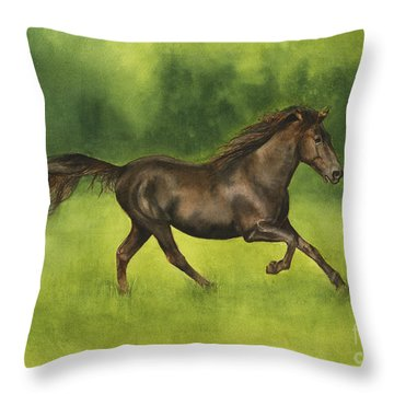 Missouri Fox Trotter Horse Throw Pillow