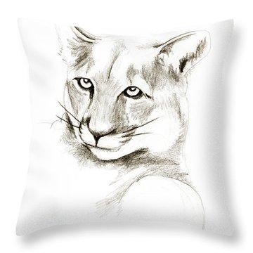 Missouri Mountain Lion II Throw Pillow by Kip DeVore