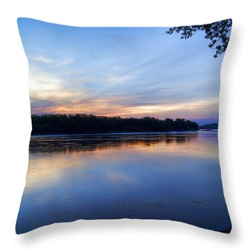 Missouri River Blues Throw Pillow