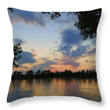 Missouri River Glow Throw Pillow by Cricket Hackmann