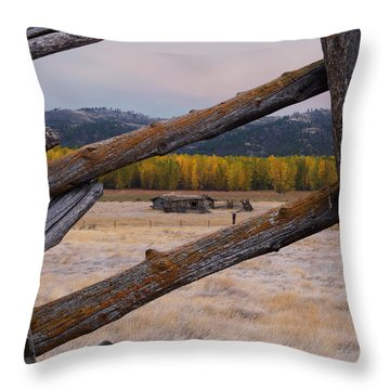 Missouri River History Throw Pillow by Leland D Howard