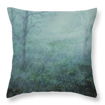 Mist On The Meadow Throw Pillow