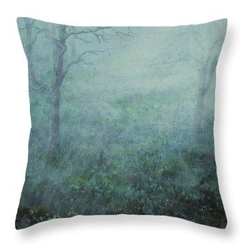 Mist On The Meadow Throw Pillow