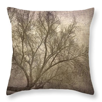 Mist Tree Throw Pillow by Guido Montanes Castillo