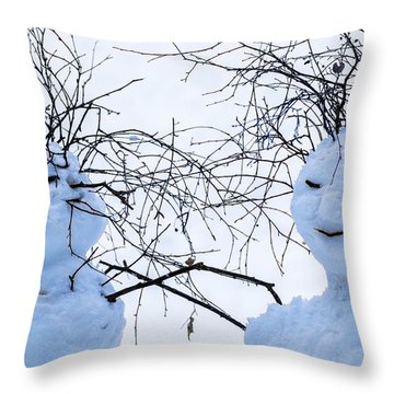 Mister And Missis Snowball - Featured 3 Throw Pillow