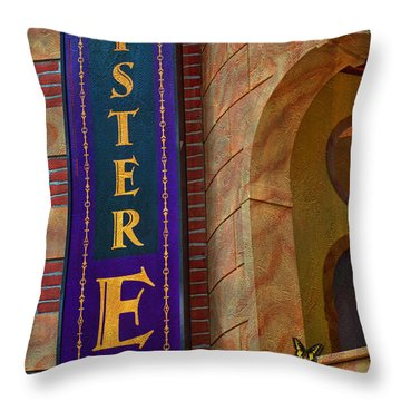 Mister E Hotel - Vacancy Sign Throw Pillow by Liane Wright