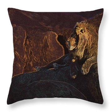 Throw Pillow featuring the photograph Mister Majestic by David Andersen