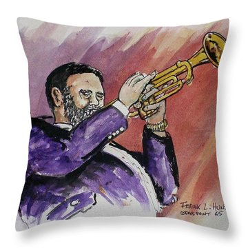 Mister Too Many Notes Throw Pillow