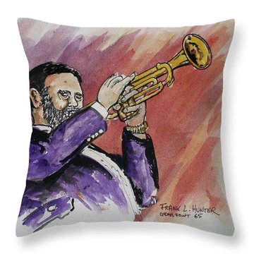 Mister Too Many Notes Throw Pillow by Frank Hunter