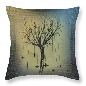 Mistic Little Tree Throw Pillow