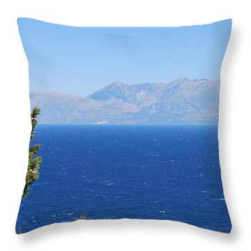 Throw Pillow featuring the photograph Mistral Wind by George Katechis