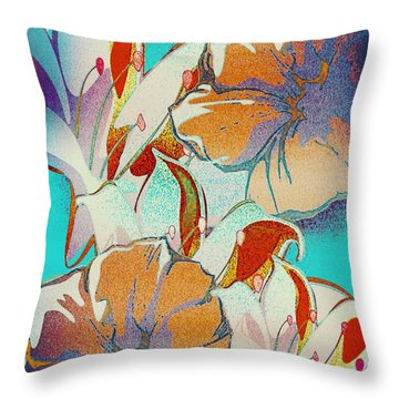 Throw Pillow featuring the digital art Misty 2 by Gayle Price Thomas