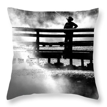 Misty Cowgirl Throw Pillow