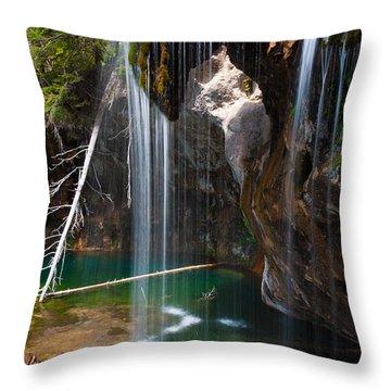 Misty Falls At Hanging Lake Throw Pillow