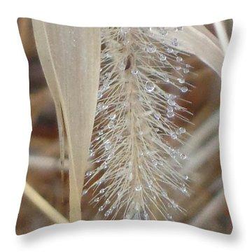 Misty Jewel Throw Pillow