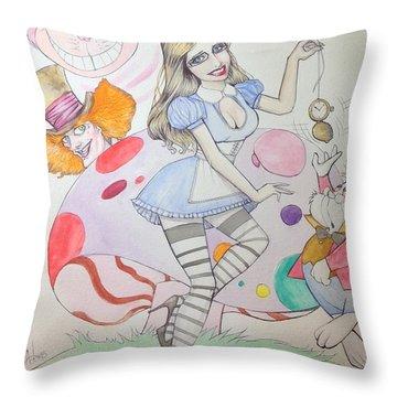 Misty Kay In Wonderland Throw Pillow