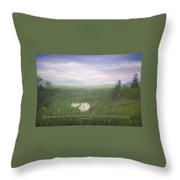 Misty Meadow Isaiah  Throw Pillow