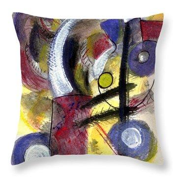 Misty Moon Throw Pillow