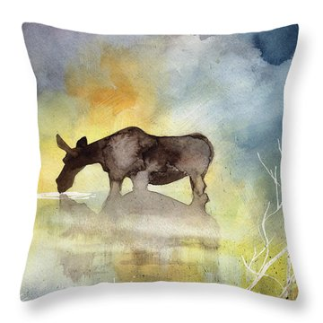 Misty Moose Minerva Throw Pillow