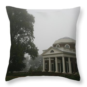 Misty Morning At Monticello Throw Pillow by Christiane Schulze Art And Photography