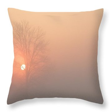 Throw Pillow featuring the photograph Misty Morning by Carlee Ojeda