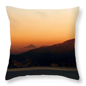 Misty Morning Catalina Throw Pillow