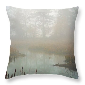 Throw Pillow featuring the photograph Misty Morning by Jordan Blackstone