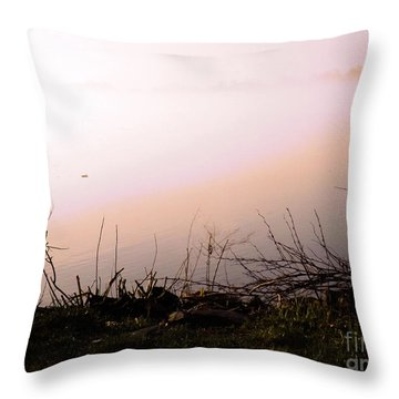 Throw Pillow featuring the photograph Misty Morning by Robyn King