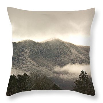 Misty Mountain Hop... Throw Pillow