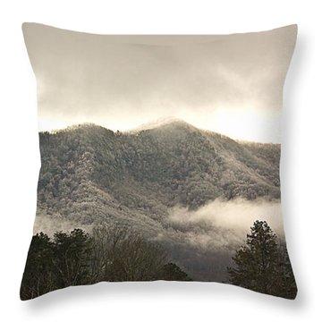 Misty Mountain Hop... Throw Pillow by Tammy Schneider