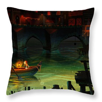 Misty Night Throw Pillow