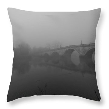 Misty Richmond Bridge Throw Pillow by Maj Seda
