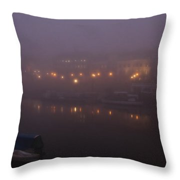Misty Richmond Upon Thames Throw Pillow by Maj Seda