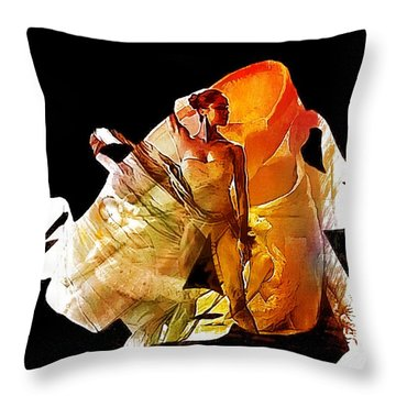 Misty Shoes Throw Pillow