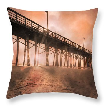 Misty Sunrise Throw Pillow by Betsy Knapp