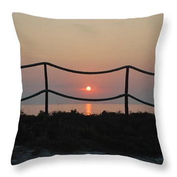 Misty Sunset 1 Throw Pillow by George Katechis