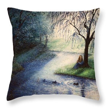 Misty Thoughts Throw Pillow