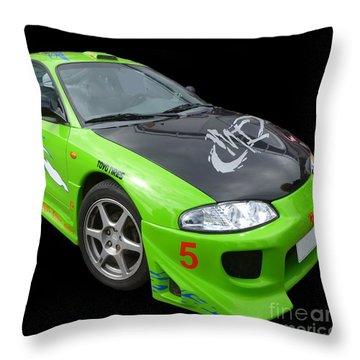 Mitsubishi Eclipse II Throw Pillow by Vicki Spindler