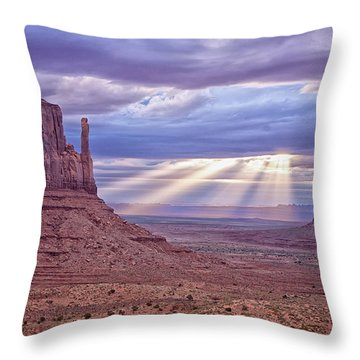 Mittens At Sunrise Throw Pillow by Tom Singleton