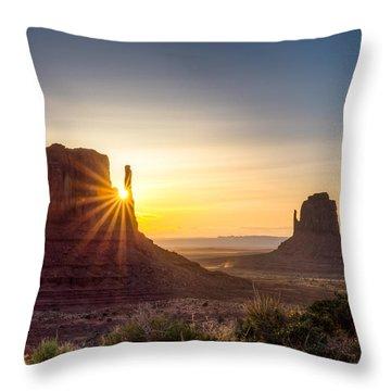 Mittens Sunrise Throw Pillow