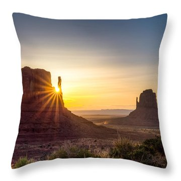 Mittens Sunrise Throw Pillow