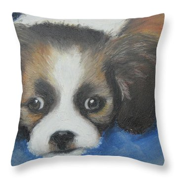 Mitzy Throw Pillow by Jeanne Fischer