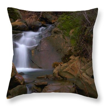 Mix Canyon Creek Throw Pillow by Bill Gallagher