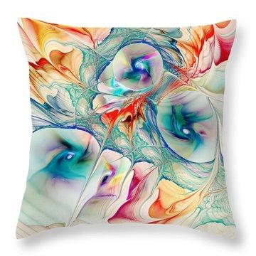 Mixed Reaction Throw Pillow by Anastasiya Malakhova