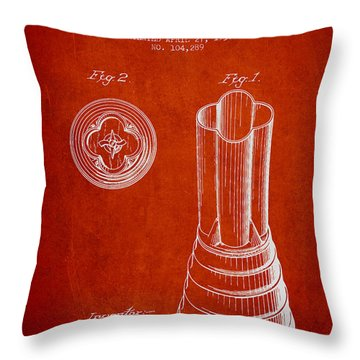 Mixer Patent From 1937 - Red Throw Pillow