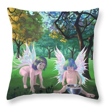 Mixing Magic Throw Pillow
