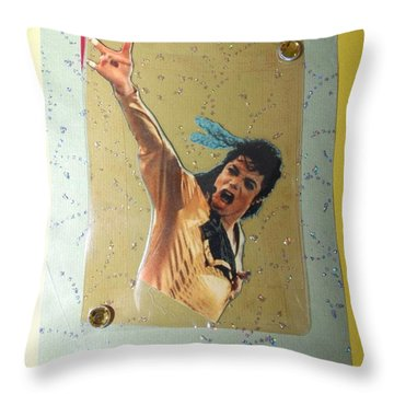 Mj Leave Me Alone Throw Pillow